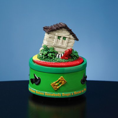 The San Francisco Music Box Company The Wizard of Oz House on Witch Feet Rotating Mini Figurine -