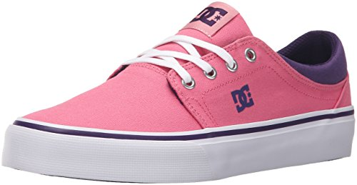 DC Shoes Womens Shoes Trase Tx - Low Shoes - Women - US 5.5 - Pink Pink/Boysenberry US 5.5 / UK 3.5 / EU 36.5
