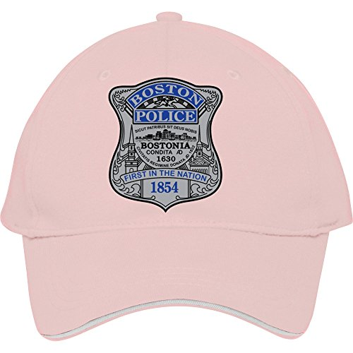[2015 Male/female Best Style Boston Police Badge Snapback For Outdoor Head Wear Cheap Price Quick Shipping Pink Cotton Frankiewarren] (Cheap Police Hats)
