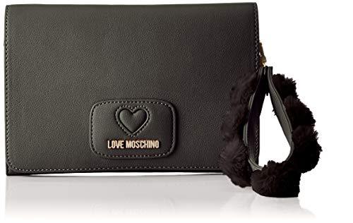 Moschino Love Nero Pochettes Pu Noir poliestere Borsa vdwq6dP