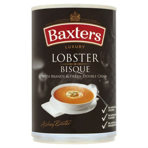 Baxters Luxury Lobster Bisque with Brandy & Fresh Double Cream Soup 400g Case of 12