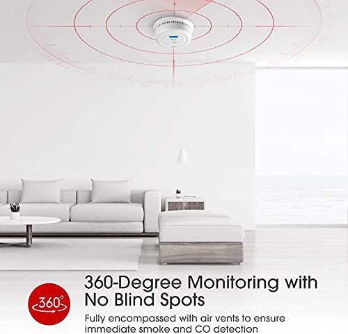 418ZKVAavKS X-Sense Rauch- und Kohlenmonoxid Melder mit LCD-Anzeige, Batterie mit 10 Jahre Lebenszeit, doppelsensor Rauch- und CO…