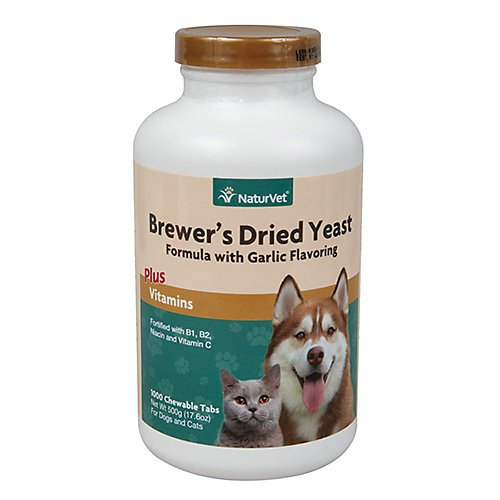 NaturVet Brewers Yeast and Garlic Pet Tabs 5000 ct