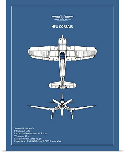 greatBIGcanvas Poster Print entitled BP CV F4U-Corsair by Mark Rogan 45