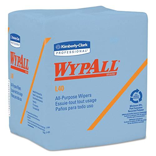- WypAll 05776 L40 Wiper, 1/4 Fold, Blue, 12 1/2 x 12, 56 per Box (Case of 12 Boxes)
