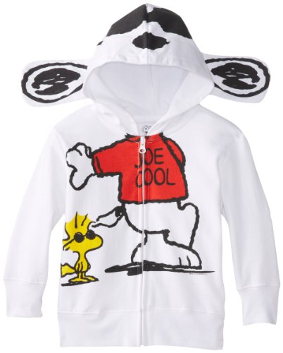 Peanuts Little Boys' Toddler Character Hoodie, White, 3T -