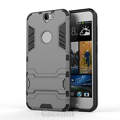 Cocomii Iron Man Armor HTC One A9 Case New [Heavy Duty] Premium Tactical Grip Kickstand Shockproof Hard Bumper Shell [Military Defender] Full Body Dual Layer Rugged Cover for HTC One A9 (I.Gray)