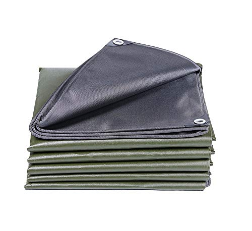 Outdoor Thick Tarpaulin Canvas/Waterproof Sunscreen Visor/Large Truck Tarpaulin Tarpaulin,Green,2mX3m