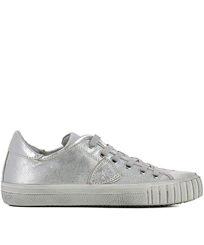 Philippe Model Damen GRLDMJ01 Silber Leder Sneakers