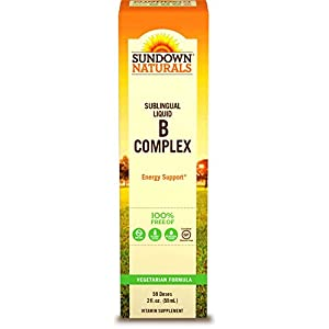 Sundown Naturals Vitamin B-12 Complex Sublingual Liquid, 2 Ounces