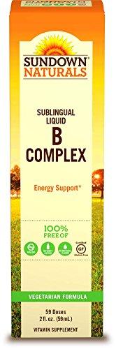 Sundown Naturals Vitamin B-12 Complex Sublingual Liquid, 2 Ounces (Vitamin B6 And B12 For Weight Loss)