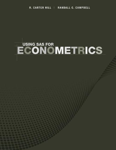 Download Using SAS for Principles of Econometrics, 4th Edition Pdf