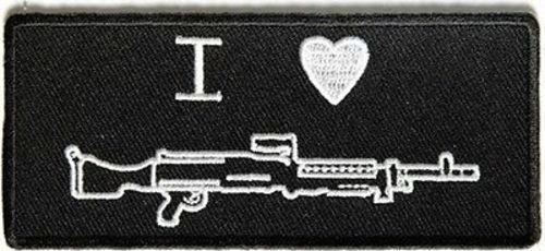 Machine Guns Assault (I Heart Machine Gun Assault Rifle Second 2nd Amendment NRA Biker PATCH PAT-3684)