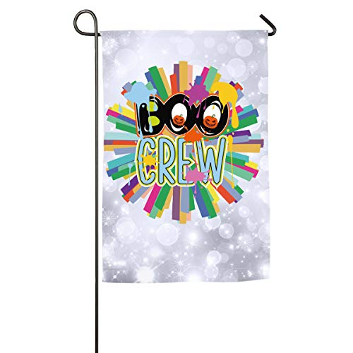 FOOOKL Boo Crew Letter Pumpkin Halloween Home Family Party Flag 100 Hipster Welcomes The Banner Garden Flags