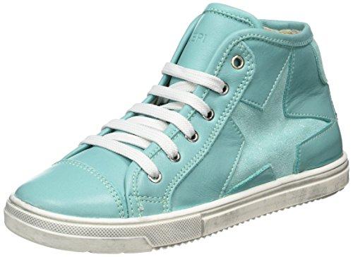 Lepi 3096LEQ - zapatillas deportivas altas de piel niña Blau (art.3096 C.20 Acqua)