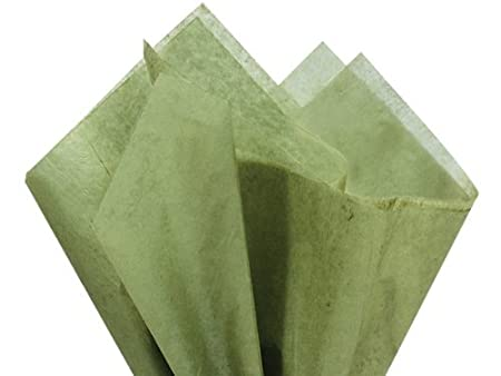 Olive Green Gift Wrap Tissue Paper 20