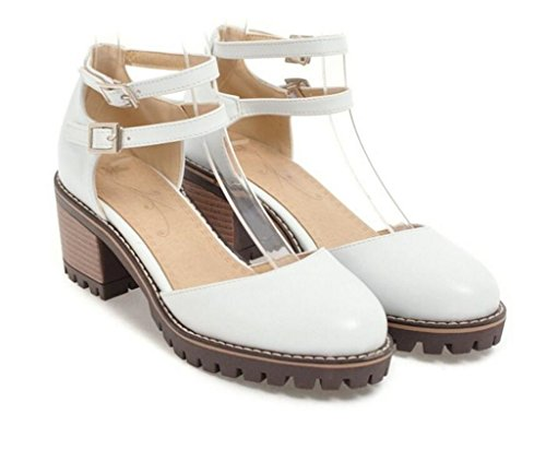 Diario estudiante Mujeres 34 White zapatos 37 41 Fiesta Romanos De Para Adolescente Cinturón White Sandalias 6cm 35 compras hebilla Xie 7vSn1Ex