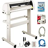 VEVOR Vinyl Cutter 28 Inch Vinyl Cutter Machine with 20 Blades Maximum Paper Feed 720mm Vinyl Plotter Cutter Machine with Sturdy Floor Stand Adjustable Force and Speed for Sign Making (Khaki)