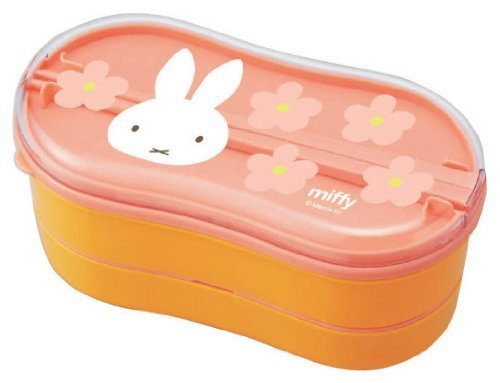 miffy two-stage lunch box with chopsticks (Orange) MF219OR by Kutsuwa