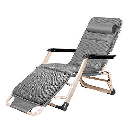 Folding Reclining Chair Zero Gravity Relaxer Chairs Sun Lounger Deck Chairs...