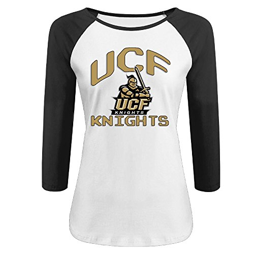 womens-ucf-knights-100-cotton-3-4-sleeve-athletic-baseball-raglan-tee-shirts-black-us-size-s