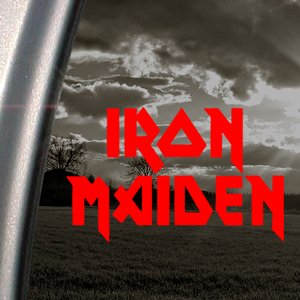 Iron Maiden Red Decal Metal Rock Band Window Red Sticker (Iron Maiden Window Decal compare prices)