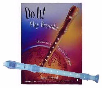 Recorder Pack: Yamaha Blue Soprano Recorder with Do It! Play Recorder! Book & CD