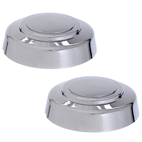 Cover Trend (SET OF 2 PIECE) CHROME FRONT CENTER CAP, Aftermarket Fits 1995-2014 2WD FORD VAN E150 E250 E350 TRUCK F250 F350, HUB (3140-F; Chrome plated Plastic)