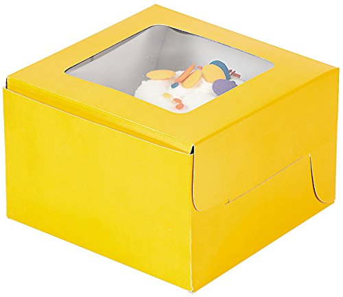 Yellow Cupcake Boxes Window Insert