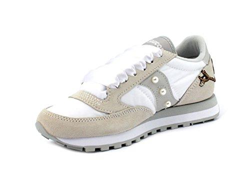 Wht Gry S2044396C1 Sneaker Saucony Original Custom Jazz wCfYXA