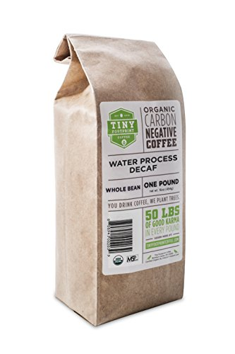 Tiny Footprint Coffee Organic Signature Blend Decaf, Whole Bean Coffee, 1 Pound