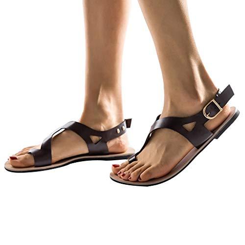 Sexy Sandales Brown Cher Pas Plage De Vintage Ete Plates Gladiateur Femmes Boheme Chaussures Chic Respirant Mode tFpqwxRaa