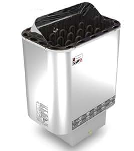Calentador de Sauna Nordex 6,0 kw con el Control Externo Harvia senlog para 220/240V y 400V y Piedras de Sauna
