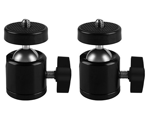 2 Pcs Tripod Mini Ball Head for HTC VIVE Base Station,for Oculus Rift Sensor ,for lighthouses,Camera Camcorder, MDW Holder for HTC VIVE