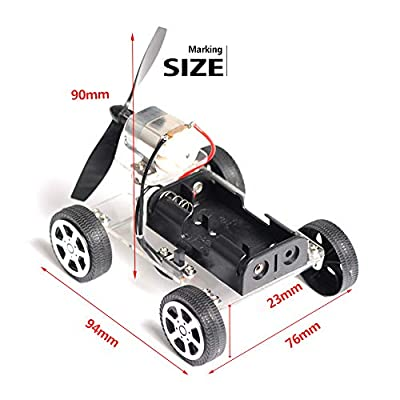 CCGTOY Puzzle Mini Baby Child Educational DIY Wind-up Toy Wind Assemble Car Toys Wind-Powered Intellectual Auto Motor Robot: Toys & Games
