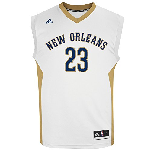 fan products of NBA Men's New Orleans Pelicans Anthony Davis Replica Player Home Jersey, 3X-Large, White