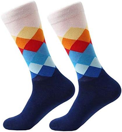 BFYCDWZ Marea Masculina Marca Hombres Calcetines de algodón Color ...