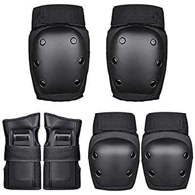No-branded Protective Gear Sets Outdoor Sports Gloves Combat Knee Elbow Protective Pads Skate Knee Pads Sports Protective Gear Set Unisex ZRZZUS: Home & Kitchen