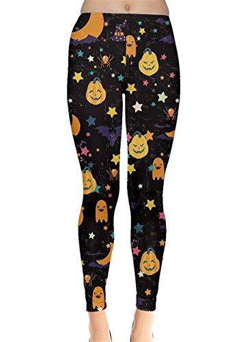 CowCow Womens Happy Halloween Leggings, Happy Halloween -