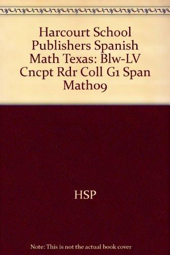 Spanish Math Below Level Concept Reader Collection Grade 1: Harcourt School Publishers Spanish Math Texas (Spanish Edition) (Level Spanish Math Below)