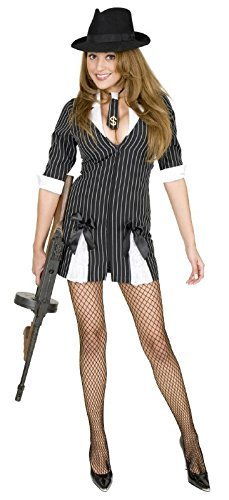 Women's Gangster Moll Suit Costume -