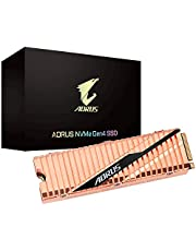 Gigabyte AORUS Nvme Gen4 M.2 500GB PCI-Express 4.0 Interface High Performance Gaming, Full Body Copper Heat Spreader, Toshiba 3D NAND, DDR Cache Buffer, 5 Year Warranty SSD GP-ASM2NE6500GTTD