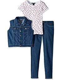 Girls' Knit Top, Vest and Pant Set