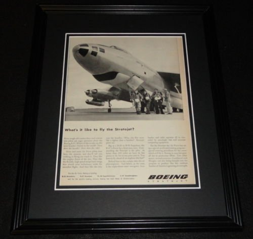 (1951 Boeing Stratojet Framed 11x14 ORIGINAL Vintage Advertisement)