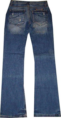 Mudd Jeans Women Pantalones Mujer Mujeres Lucy Azul 75bdh37100% algodón Tamaño 26/34Longitud total 105cm/cintura del Envío 72cm