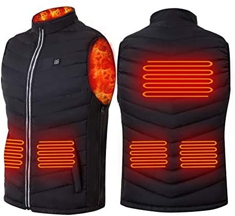 Konweda males's Heated Vest, USB Charging Lightweight Heated Jacket for Women Men Skiing Fishing Hunting(Battery Not Included)