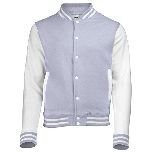 COLLEGE veste manches blanches en noir, rouge, bleu, gris, bleu marine, violet, rose, vert, bordeaux taille xS s m l xL xXL Hellgrau-Wei?