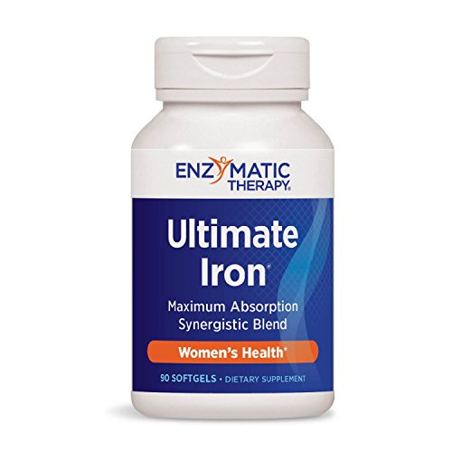 Enzymatic Therapy Ultimate Iron® Maximum Absorption Synergistic Blend, 90 Count (Enzymatic Ultimate Therapy Iron)