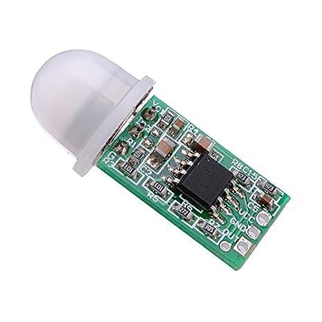 Ils - 5 Piezas el Mini Módulo Detector PIR Sensor de Infrarrojos piroeléctrico IR: Amazon.es: Electrónica