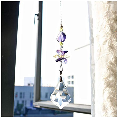H&D Crystal Suncatcher Baroque Maple Leaf Prism Rainbow Maker Suncatcher Window Decor